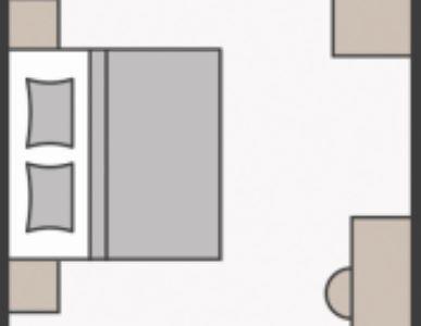 Skizze Doppelzimmer Alpenrose