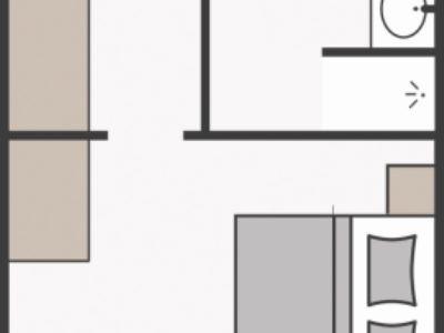 Skizze Familienappartement Alpenrose