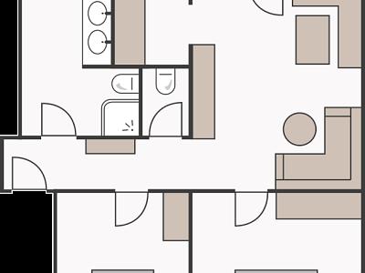 Skizze Casa Plana 4 Personen