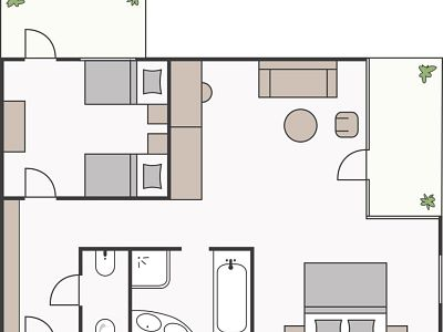 Skizze Familienappartement Edelweiss